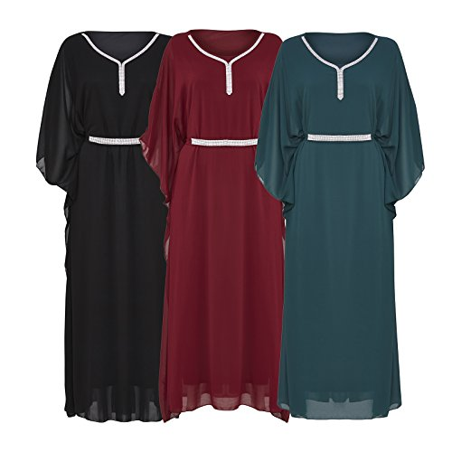 Jalabiya Kaftan Flügelärmel Arabischer Kleid Burka Khaleeji De Schwarz Langes Abaya Damen Maxikleid La Stil Jilbab Hijab Crème CwXq1Sv