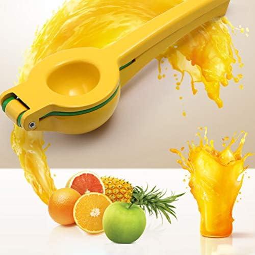 Gspose Exprimidor de Naranjas, la Mejor Prensa Manual de cítricos 2 en 1 / Prensa de Lima con contenedor, Prensa Manual de limón