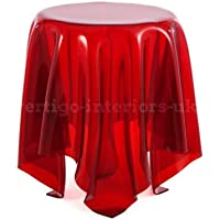 Illusion Side Lounge Bedside Table - Red