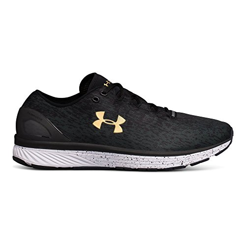 Under Armour Men's Charged Bandit 3 Ombre, Black/Anthracite/High-VIS Yellow, 9 D(M) US