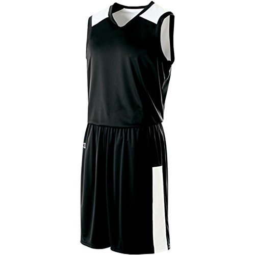 Holloway Ladies Reversible Nuclear Jersey (Medium, Black/White) by Holloway