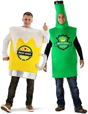 Costume di schiuma da bicchiere di birra adulti