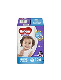 HUGGIES Little Movers Diapers, Size 4, 124 Count BOBEBE Online Baby Store From New York to Miami and Los Angeles