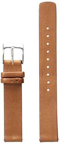 Skagen SKB2033 14mm Interchangeable Cognac Leather Calfskin Watch Strap (Skagen Watch Bands Replacement)
