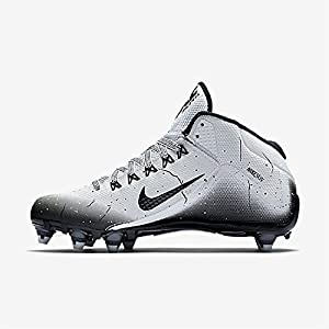 Nike Alpha Pro 2 3/4 D Mens Football Cleat White/Black/Metallic Silver 11.5 D(M) US