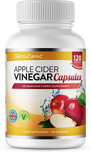 Apple Cider Vinegar – 120 Capsules – 1000mg Daily Dosage – Premium Quality Supplement – 60 Days Supply – UK Made – Vegan…