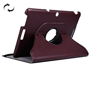 Litchi Texture 360 Degree Rotating Leather Case with Rubber Band & Holder for ASUS MeMO Pad 10 / ME103K (Brown)