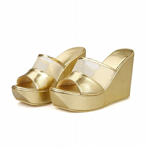 Pictures of Latasa Women's Platform Wedges Slide Sandals 8 M US 5