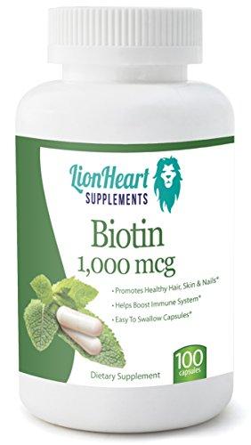 Биотин 1000 MCG - на Львиное Сердце добавки - бесплатный бонус биотин Отчет + бесплатный бонус Здоровое питание FOOD GUIDE + БЕСПЛАТНЫЙ БОНУС РУКОВОДСТВО ПО HEALTHEIR волос, кожи и NAILS- для мужчин и женщин - без побочных эффектов -Treats, поддерживает и