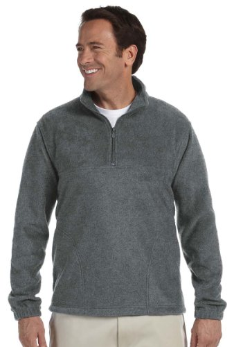 Harriton Quarter-Zip Fleece - Quarter Fleece Pullover Zip