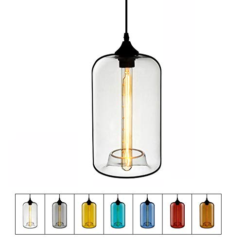 B Marron Lampe Suspension Plafond Lustre en verre Creative Restaurant Cafe Bar E27 Plafonnier Lampe Salon Chambre Décoration Lustres (Couleur   B, Conception   Marron)