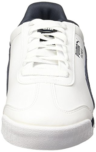 White Ginnastica Scarpe Uomo Roma 12 Basic Puma new Basse Bianco da Navy wqR6Ex8
