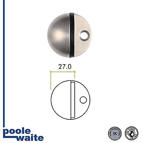 ZAS06BSS 45mm Dia Oval Floor Door Stop SSS From The Door Handle Store by Zoo Hardware