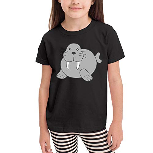SHIRT1-KIDS Walrus Costume Toddler/Infant O-Neck Short Sleeve Shirt Tee for 2-6 Toddlers Black ()