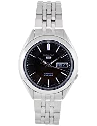 Seiko Mens SNKL23 Stainless Steel Analog with Black Dial Watch