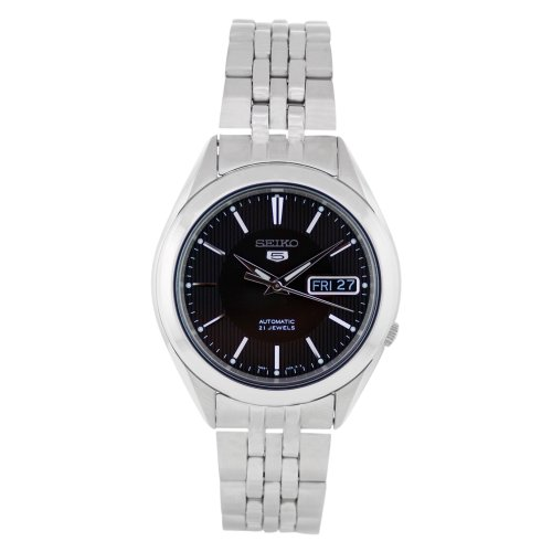 Seiko Men's SNKL23 Stainless Steel Analog with Black Dial Watch