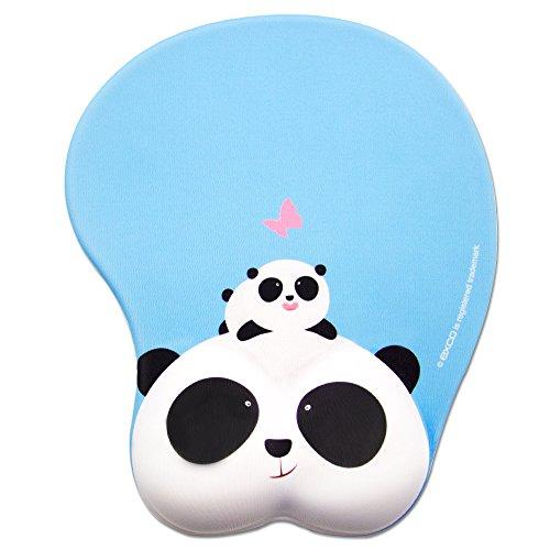귀여운 팬더 EXCO 마우스 패드 저 반발 멋쟁이 귀여운 피로 경감 마우스 패드 손목 (파란색) / 귀여운 고양이(핑크)