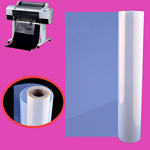 2 Rolls,36''x100',Waterproof Inkjet Transparency Film Silk Screen Printing by Tiger-Hoo