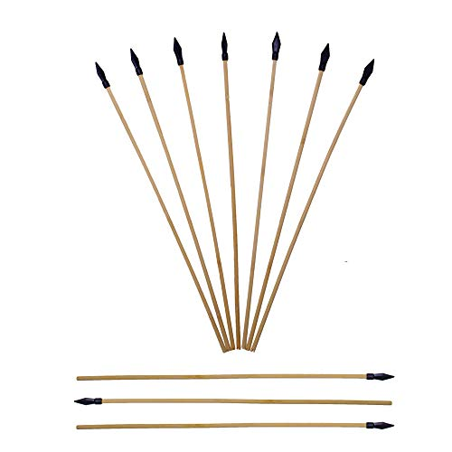 UTeCiA Safety Archery Target Arrows - 18 Inch Premium Wooden Arrows for Kids and Beginners | Soft & Flexible Rubber Tips | Well Balanced & Durable | Pack of ()