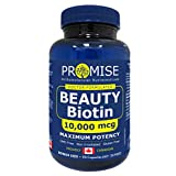 Promise Beauty Biotin - 10,000mcg, Maximum Potency, For Healthy Hair, Skin and Nails (90 capsules)