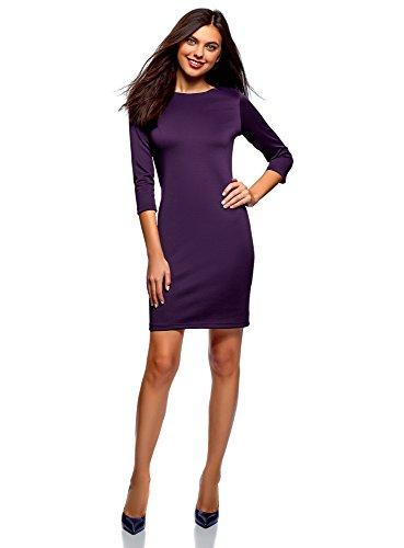 (oodji Ultra Women's Zipper Bodycon Dress, Purple,)