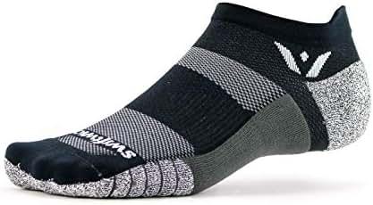 Swiftwick- FLITE XT ZERO | No-Show Running and Golf Socks, Fitness | Wicking, Non-Slip, Ultimate Stability