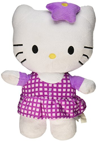 Hello Kitty Plush Doll Toy - Purple Star Bow w/ Pattern Dress