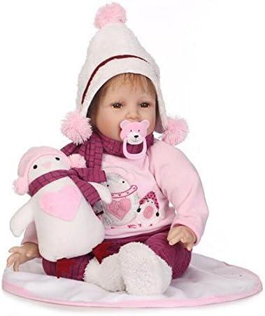 HOJZ 人形 21.6インチ 本物そっくり リボーン 赤ちゃん リアルなソフトシリコンクロス ボディ 幼児 男の子 女の子 女性 女の子 ギフト
