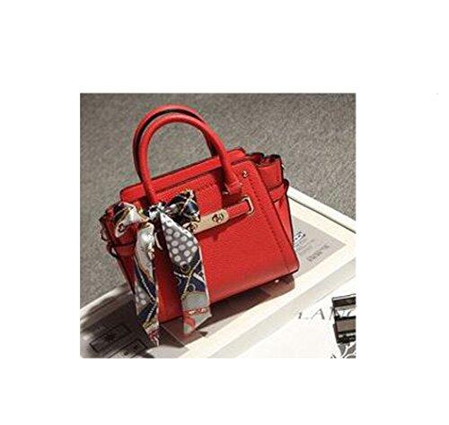 Shi xiaoshu - Bolso estilo cartera para mujer Red