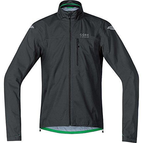 GORE BIKE WEAR Men's Cycling Rain Jacket, Super-Light, GORE-TEX Active,  GT AS Jacket, Size XL, Black, (Mens Technical Cycling Jackets)