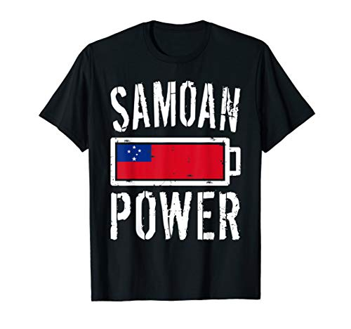 (Samoa Flag T-Shirt | Samoan Power Battery Proud Tee)