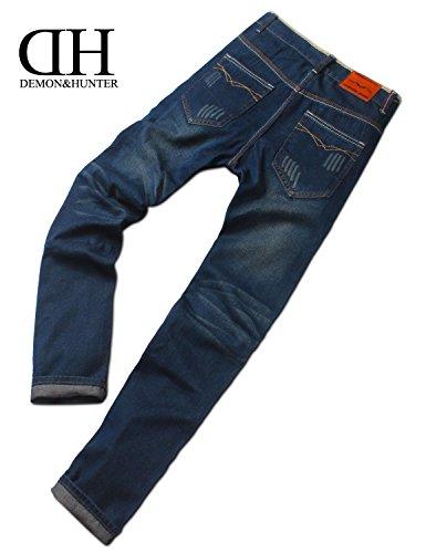 Demon&Hunter Basic Series Men's Regular Straight Leg Jeans DH8031U(30)