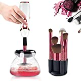 BMK Makeup Brush Cleaner and Dryer Professional Makeup Brush Cleaning Tool Holder Bowl Automatic Electronic Brushes...