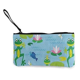 Amazon.com: Monedero de lona con dibujos animados de rana ...