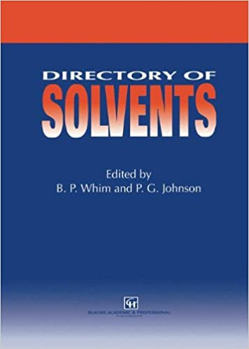 Amazon com: Directory of Solvents (9780751402452): B P  Whim