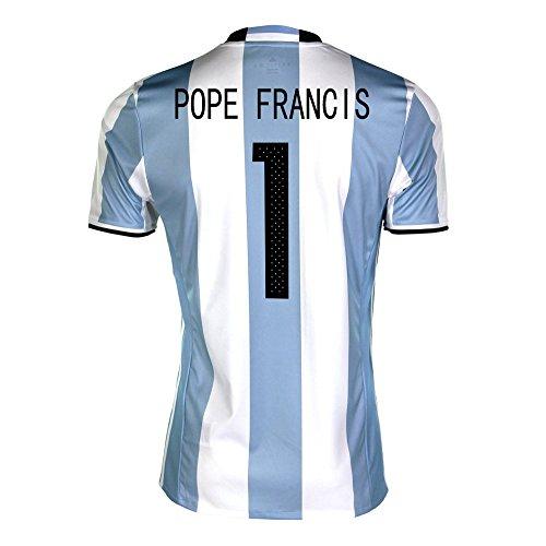 トークハンバーガー概要Pope Francis #1 Argentina Home Soccer Jersey Copa America Centenario 2016/サッカーユニフォーム アルゼンチン ホーム用 フランシスコ 背番号1