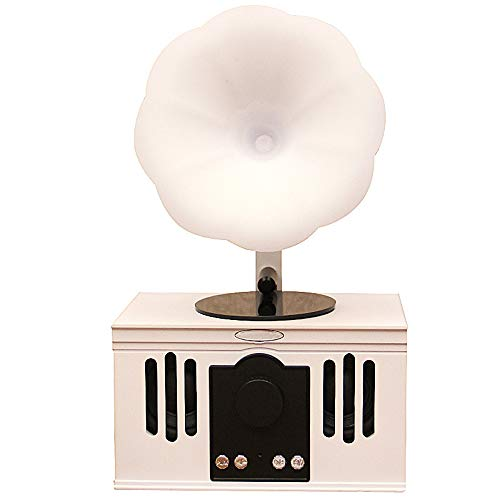 Bluetooth Speaker, Retro Hands-Free Calling Card Wireless Phonograph Bluetooth Speaker, Suitable for Most Mobile Phones,White