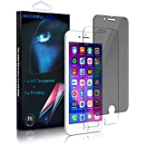 iPhone 7/8 Privacy Screen Protector, MOR2U Anti-Spy Dark Screen Protector + HD Tempered Glass Screen Protector Film For Apple iPhone 8/7 (Anti-Fingerprint, Bubble-free, Shatterproof, Black, 2-Pack)
