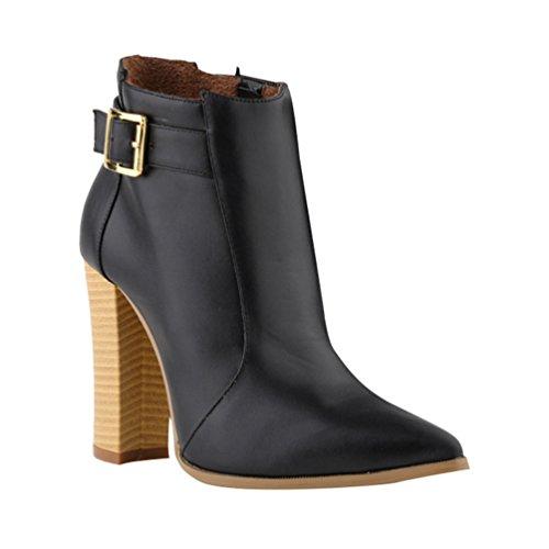 WanYang Nero Autunno Martin Tacco Alto Tacco Stivali Stiletto Donna Inverno Col Stivaletti Boots Scarpe aw1BanHq
