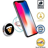 Tech Sense Lab Universal Multimount Magnetic Car Phone Holder with One Touch 360 Degree Rotating for All Smartphone(Silver)