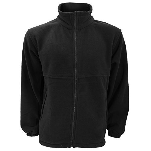 UCC Unisex Full Zip Polar Fleece Jacket (M) (Black)