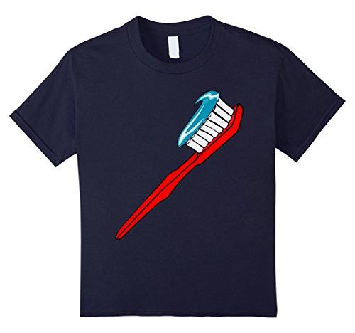 Kids Toothbrush Costume T-Shirt Toothpaste Sparkle Teeth Brushing 12 Navy