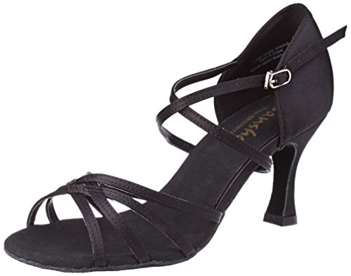 (SANSHA Ballroom Dance Shoes, Rosa (BR31007 (9, Black))