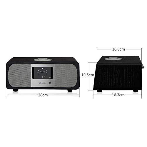 Lemega M3+ Internet Radio & Wireless Smart Speaker (HI-FI 2.1 Stereo) with FM, Bluetooth Music Streaming, Spotify Connect, Remote & App Control, Dual Alarm, Colour Display (Black Oak) by LEMEGA (Image #2)