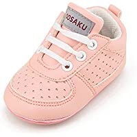 OOSAKU Baby Non-Slip First Walking Shoes Fashion Breathable Rubber Sole Sneaker