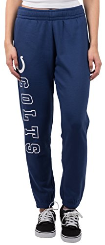 Blue Team Fleece Sweatpants - NFL Women's Indianapolis Colts Jogger Pants Relax Fit Fleece Sweatpants, Large, Blue