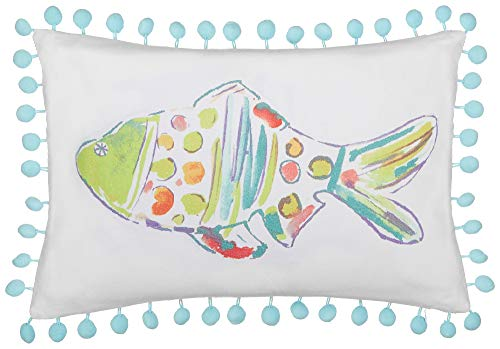 Blue Marlin Pillow - Red Pineapple Marlin Fish Rainbow Fish Decorative Pillow One Size White/Blue/Green/red