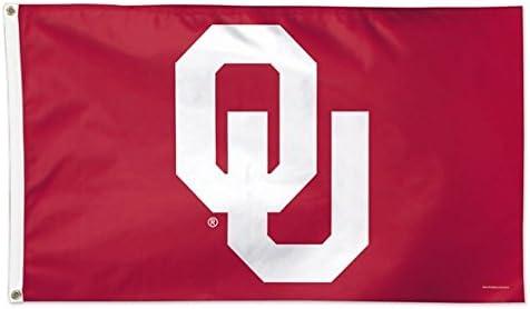 WinCraft NCAA University of Oklahoma 02109115 Deluxe Flag 3 x 5
