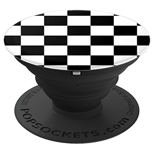 - Checkered Black And White Checkerboard Pattern Style - PopSockets Grip and Stand for Phones and Tablets