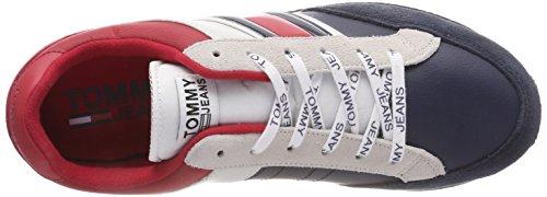 Sneaker Bianco Basse Rwb Casual Scarpe Ginnastica Uomo da Denim Retro Hilfiger 020 n7AFzW